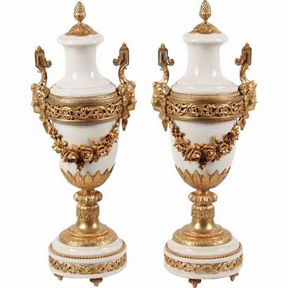 Ormolu Antique French Marble Urns Grandest Mounted