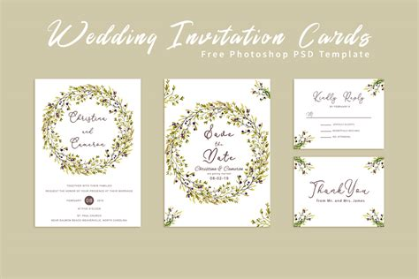 Free Wedding Invitation Card Template ~ Creativetacos