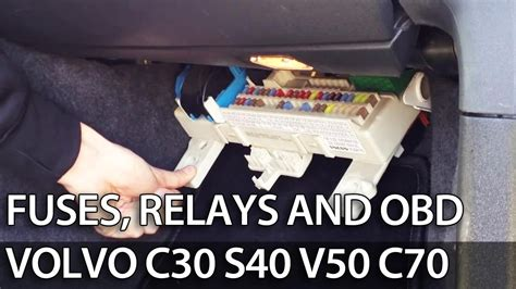 Volvo C30 Fuse Box by Where Are Fuses Relays And Obd Port In Volvo C30 S40 V50