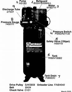Kobalt  Abac America  Air Compressor Parts