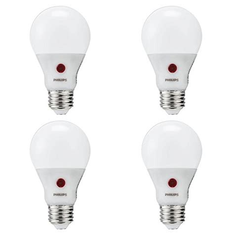 Philips LED Non-Dimmable A19 Frosted Light Bulb: 800-Lumen