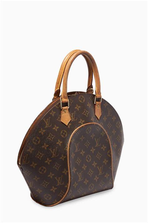 shop louis vuitton vintage brown ellipse mm bag  monogram canvas  women ounass saudi