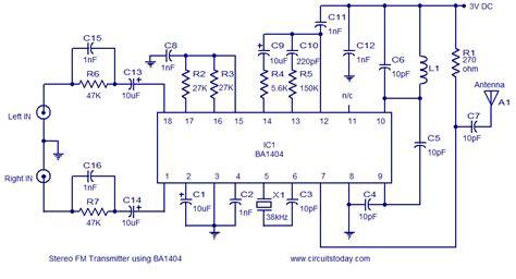 Stereo Transmitter Circuit Using Baelectronics