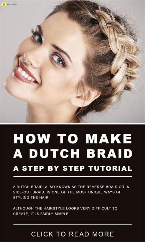 dutch braid  step  step tutorial braid