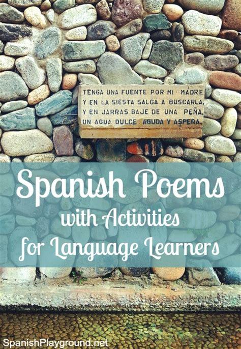 spanish poems  kids spanish playground