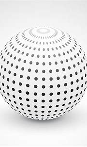 3d sphere made with black dots - Download Free Vector Art ...