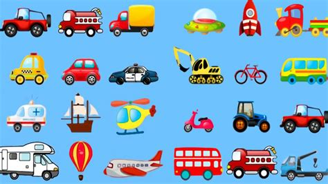 Learning Street Vehicles Names And Sounds For Kids