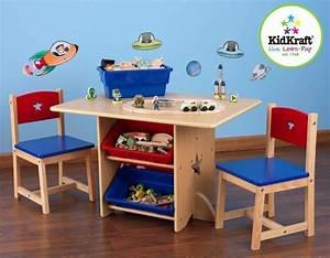 Table Enfant Bois : table chaises et bac rangement enfant en bois etoile ~ Teatrodelosmanantiales.com Idées de Décoration