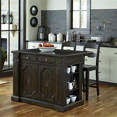 Home Styles Nantucket Black Kitchen Island With Granite