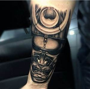 My forearm of Japanese samurai mask tattoo Oriental ...