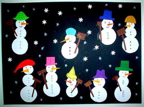 basteln weihnachten tonpapier schneemanncollage weihnachten basteln meine enkel und ich