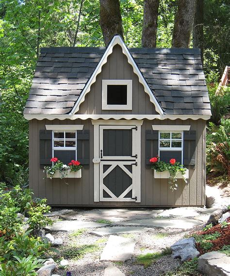 Backyard Cottage Playhouse by Cottage Co Backyard Floored Playhouse