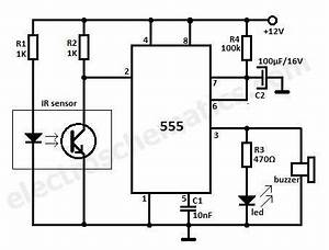 motion detector alarm circuit With wiring diagram further motion sensor light wiring diagram additionally