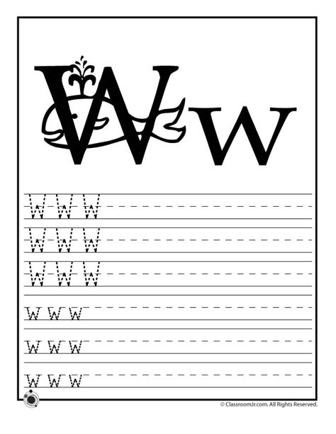 letter w activities learn letter w woo jr activities