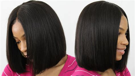 How To Make, Cut & Style A Blunt Cut Bob Wig Middle Part