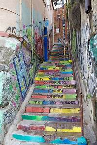 Poetry, Along, The, Stairs, In, Valparaiso, Chile, Editorial, Image