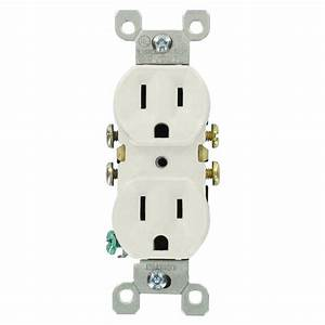 Leviton 15 Amp Residential Grade Grounding Duplex Outlet