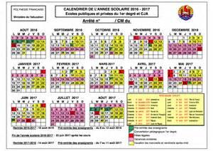 Calendrier Vacances Scolaires 2016 2017