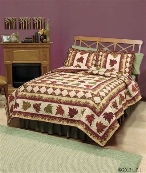 fall bedding sets fall quilt collection autumn leaves heirloom quality