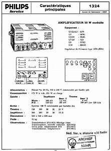 Philips 1324 50w 2x6l6 Amplifier 1970