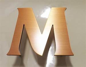 letter m brushed copper a sign makers blog With copper letters