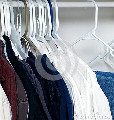 Shirts Hanging In Closet Stock Photo - Image 55236573