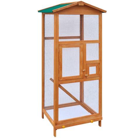 gabbia per uccelli in legno vidaxl gabbia in legno per uccelli 65x63x165 cm vidaxl it