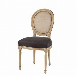 Chaise Médaillon Maison Du Monde : chaise m daillon cann e en lin noir maisons du monde ~ Teatrodelosmanantiales.com Idées de Décoration