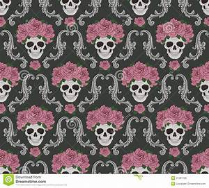 Sugar Skull And Roses Background | www.imgkid.com - The ...