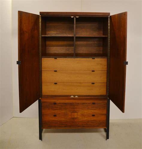 mid century romweber wardrobe or tv cabinet with steel