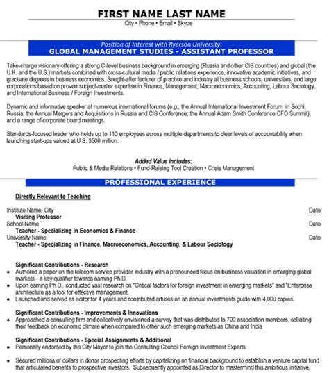 Free Resume Templates For Assistant Professor by Top Education Resume Templates Sles
