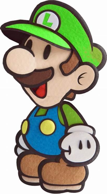 Luigi Mario Paper Sticker Deviantart Fawfulthegreat64 Bros