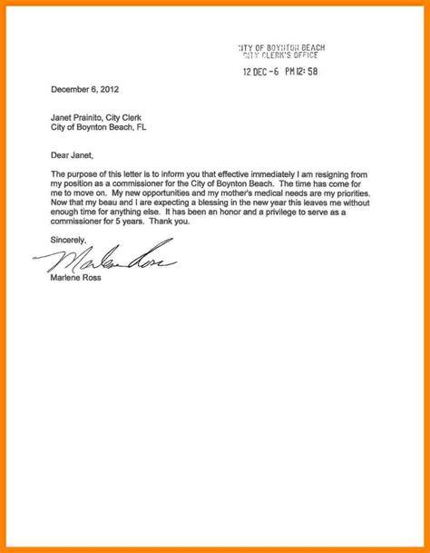 executive letter  resignation sample resignition letter
