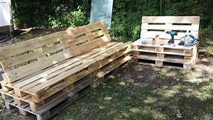 Salon Exterieur Palette : deco jardin avec palette en bois ~ Teatrodelosmanantiales.com Idées de Décoration