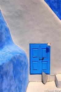 Santorini Greece Building Blue