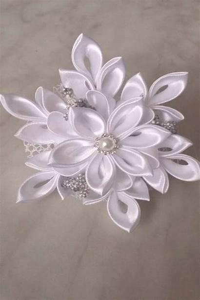 Kanzashi Flower Ribbon Satin Clips Flowers Best10en