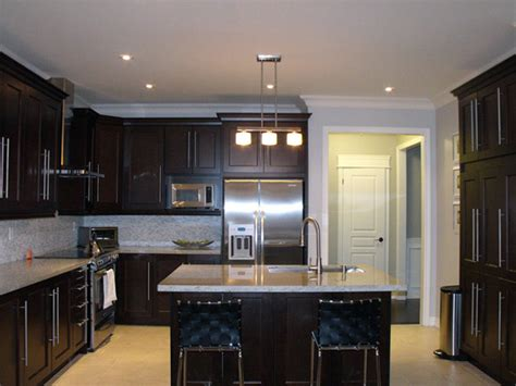 Dark Wood Kitchen Cabinets Designs