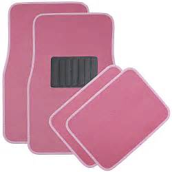 floor mats carpet car floor mats for auto 4pc carpet semi custom fit heavy duty w heel pad pink ebay