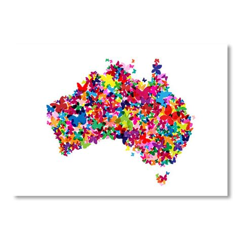 americanflat australia map butterfly wall art reviews