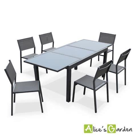 Table Extensible Et Chaise De Jardin Pas Cher by Alice S Garden Alabama Gris Salon De Jardin 6 Chaises