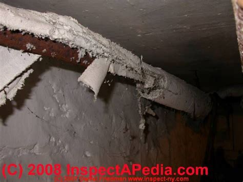 asbestos insulation  pipes identification action guide