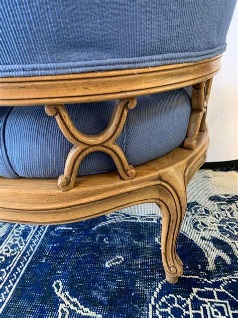 Enjoy free shipping on most stuff, even big stuff. Vintage Curved Tufted Blue Upholstered Barrel Back ...