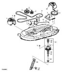 jd l100 mower deck belt diagram jd free engine image for