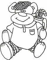 Golf Coloring Pages Printable Sheet Themed Tree Sport Printables Scary Fun sketch template