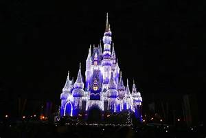 WDW Castle on Christmas Night - Picture of Walt Disney ...