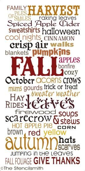 fall fall subway stencil typography harvest leaves