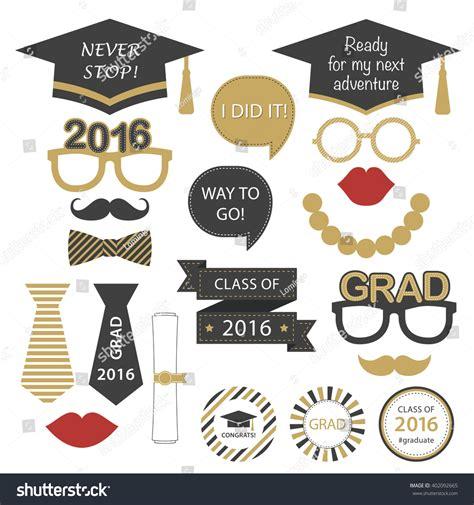 There is something for everyone including easy decor, fabulous food and ways to make memories of the special day. Set Graduation Party Class 2016 Vector Stock Vector 402092665 - Shutterstock