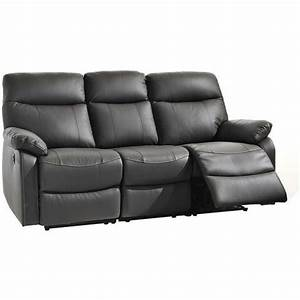 canape relax 3 places kiss meubles pas cher sofa With achat canapé relax
