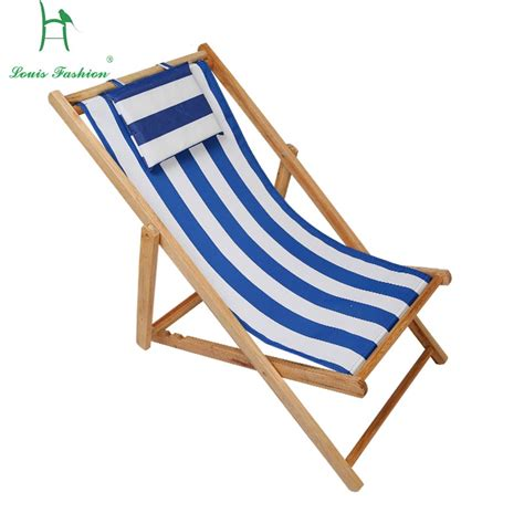 chair fold the wooden deck chair oxford canvas seat