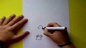 Como dibujar huellas paso a paso How to draw footprints YouTube